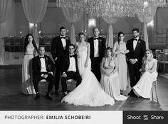 Vanity Fair inspired wedding party pose! #bridalparty #weddingparty #groomsmen #wedding #shootandshare | Photographer: Emilia Schobeiri  |  emiliajanephotography.com  |  Camera: Canon 5D Mark II  |  Lens: EF50mm f/1.2L USM  |  Aperture: f/4.0  |  Exposure: 1/160  |  IS0: 6400  |  Flash: No  |  Shoot and Share  |  @emiliajane