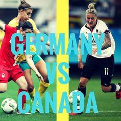 Germany vs Canada  #olympics #olympics2016 #rio2016 #soccer #football #futebol Olympic Football, Germany Vs, Rio 2016, Olympics, Soccer, Canada, Baseball Cards, Sports, Football
