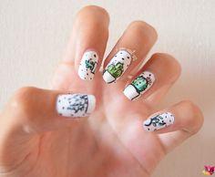 Nail art Cactus