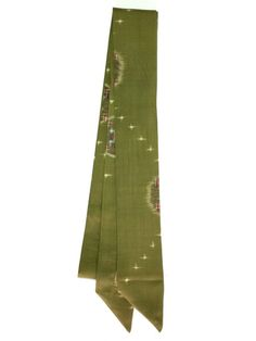 【Ribbon Scarf OliveGreen with Cream&Red Design2  | #MegumiProject】