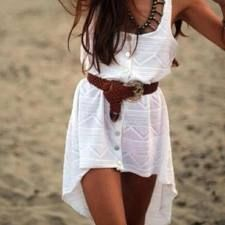 cute summer dress! with cowgirl boots to complete it!