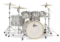 """Gretsch Drums Catalina Maple Shell Pack With Free 8"""" Tom - 7-pc - Silver Sparkle image 1"""