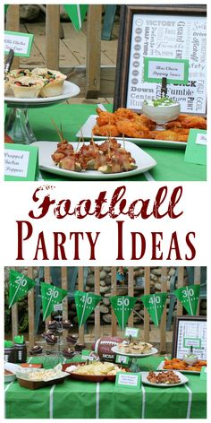 Football party Ideas - Make your game day festivities a hit with these tasty recipes, party ideas and DIY projects for football season!