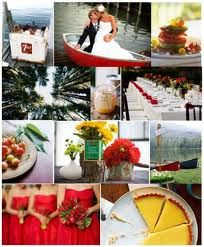 Red and yellow wedding