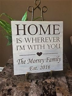 Home Is Wherever I'm With You Wood Sign by TheCraftShackbyDanyJ