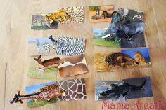 brettspiel spiel selber machen kinder kindergarten kleinkinder assoziationsspiel afrikanische tiere afrika spielideen muster