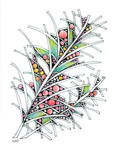 Another Open Seed Arts zentangle.  Adding the color just makes this POP!!