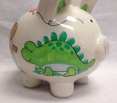 Personalized Piggy Bank, One Stroke Painting, Make Your Own, How To Make, I Shop, Piggy Banks, Baby Shower, Hand Painted, Toys