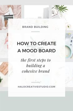 What is a mood board and why is it important to your brand and website?  When starting a business and building a brand...a mood board is the first place to start. It will absolutely help here you get clear on the visual aspects that you want your brand to have. The tone, the feel, the vibe. Once it's decided…you can then return back to it as a reference and build a cohesive brand around that particular look & feel.