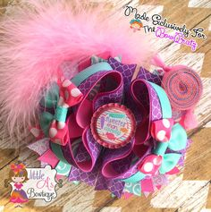 Sweeter than candy bow, candy bow, OTT bow, Over the top bow, stacked boutique bow by LittleAsBowtique on Etsy