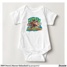 PAW Patrol | Heroes Unleashed! Puppy, dog lover. Baby, bebé. Producto disponible en tienda Zazzle. Vestuario, moda. Product available in Zazzle store. Fashion wardrobe. Regalos, Gifts. #camiseta #tshirt