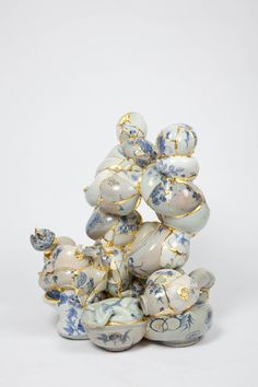 ceramic trash put together with gold by Yee See Kyung