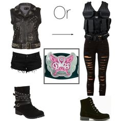 The shield does have a diva and I am she. BTW I have better fashion taste Wrestling Outfits, Wwe Outfits, Women's Wrestling, Fashion Outfits, Womens Fashion, Other Outfits, Cool Outfits, Wwe Costumes, Types Of Fashion Styles