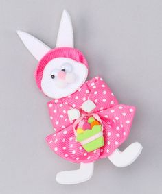 Take a look at this Picture Perfect Basket Bunny Bow by Picture Perfect Hair Bows on #zulily today!