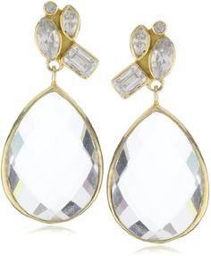 "MELINDA MARIA ""Gwyneth Collection"" Clear Baby Mosaic Earring"