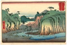 広重 Hiroshige 『山海見立相撲 摂津有馬山』【浮世絵 風景 Ukiyoe-Landscapes
