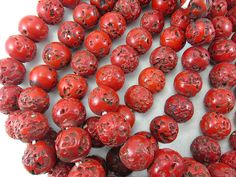 "Indian Glass ""Coral"" Beads"