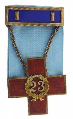 United States Civil War, Veteran's Badge Of The 23th Pennsylvania Volunteers