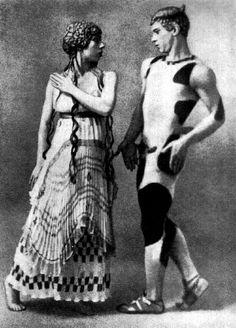 Lubov Tchernicheva and Vaslav Nijinsky - Nijinsky dans le rôle du Faune (1912) Photographie d'Adolphe de Meyer (1868-1946) - Paris, musée d'Orsay  © Photo RMN - B. Hatala