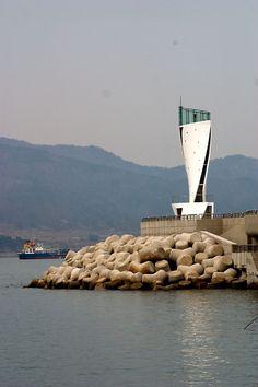 WOW...Korea has some really unique lighthouses...................................WTB  New Jetty Lighthouse, Korea