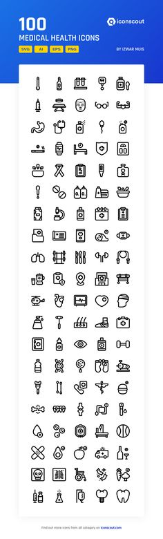 Medical Health Icon Pack - 100 Line Icons - Medical Health Icon Pack – 100 Line Icons - Health Icon, Png Icons, Icon Pack, Line Icon, Icon Font, Fonts, Medical, Gym, Fitness