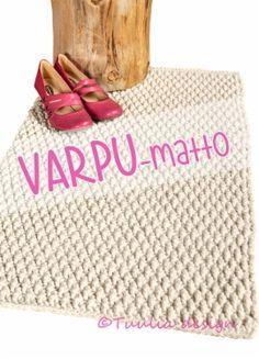 Virkkaus | Tuulia design. Iloa & Ideaa askarteluun ja käsitöihin! Crochet Home, Knit Crochet, Jute Rug, Natural Rug, Handmade Rugs, Needlework, Upcycle, Interior Decorating, Projects To Try