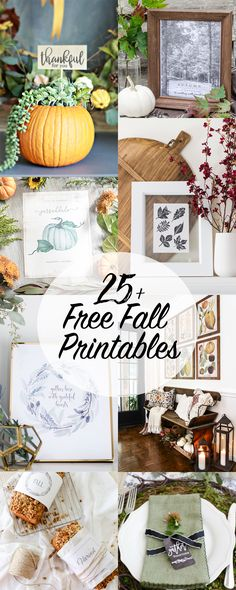 """Hello friends! I've got a little more """"fall"""" in store for you today! I'm super excited to be part of this special printable hop with an absolutely amazingly talented group of fellow bloggers. I always love joining in on these seasonal printable tours, organized by Kristen of Ella Claire Inspired, because the quality of the …"""