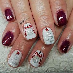 Christmas Nails That Boost Your Mood Winter nails. Fun designs for manicuresWinter nails. Fun designs for manicures Christmas Nail Art Designs, Winter Nail Designs, Gel Nail Designs, Nails Design, Christmas Gel Nails, Holiday Nails, Xmas Nail Art, Gel Nail Art, Nail Polish