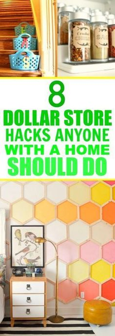 These 8 SUPER easy dollar store hacks are SO GOOD! I'm so happy I found this GREAT POST! These ideas are beyond genius! I'm definitely pinning for later!