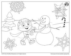 super why coloring page super why building a snowman