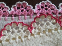 Knit and Crochet Free Pattern Picot Crochet, Crochet Lace Edging, Crochet Trim, Love Crochet, Beautiful Crochet, Crochet Doilies, Crochet Flowers, Crochet Stitches, Crochet Crafts