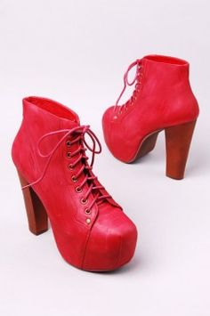 Jeffrey Campbell Lita in Red Leather