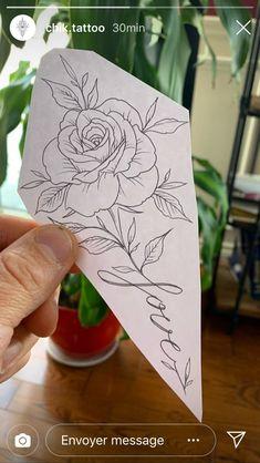 Rose Tattoo Stencil, Rose Stencil, Family Tattoo Designs, Tattoo Designs Wrist, Time Tattoos, Body Art Tattoos, Tatoos, Tattoo Sketches, Tattoo Drawings