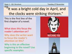 AQA English Language Paper 1 Section A lesson that analyses the structure of the first part of George Orwell's We explore how the chapter begins, how. A Christmas Carol Revision, An Inspector Calls Revision, Relationship Poetry, Gcse English Language, English Shop, English Literature, School Resources, Teaching Resources, Texts