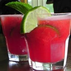 "Watermelon Agua Fresca | ""My son and I love this. Great way to use the mint that grows in my garden."""