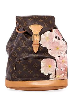 Hand Painted Customized Monogram Canvas Montsouris MM by Louis Vuitton at Gilt