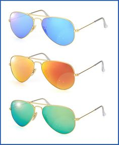 9fddced66ae0c Ray Ban Sunglasses · Ray Ban Aviator now comes with polarized mirrored  flash lenses. Perfect for the heat of