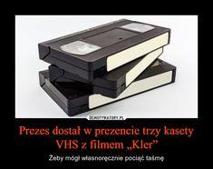 "Prezes dostał w prezencie trzy kasety VHS z filmem ""Kler"" Vhs, Office Supplies, Film, Movie, Film Stock, Cinema, Films"