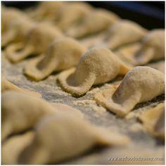 My recipe for Lithuanian koldunai, which are little meat-filled dumplings a bit similar to ravioli. Lithuanian Koldunai | www.myfoododyssey.com