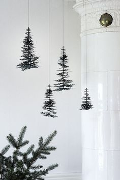 Hanging Christmas trees holiday decorations