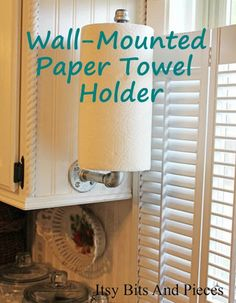 Wall-Mounted Paper Towel Holder | This paper towel holder is effective at adapting limited counter space while maintaining access to a useful kitchen tool.