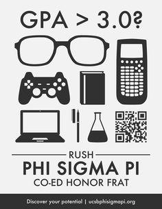 Another cool Phi Sigma Pi Rush Poster from Zeta Epsilon