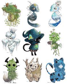 Character Inspiration, Character Art, Character Design, Creature Concept Art, Pin Art, Drawing Tools, Animal Design, Fantasy Creatures, Art Dolls