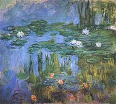 Water Lilies Start Date: 1914 Completion Date:1915 Style: Impressionism Series: Water Lilies Genre: flower painting
