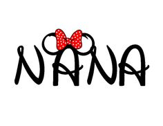 Disney Minnie-ized Nana or Nanny Custom Iron on Transfer Decal(iron on transfer, not digital download) on Etsy, $5.00