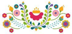Mexican Embroidery, Diy Embroidery, Embroidery Patterns, Flower Border Clipart, Flower Svg, Stencil Patterns, Pattern Art, Mexican Paper Flowers, Mexican Pattern