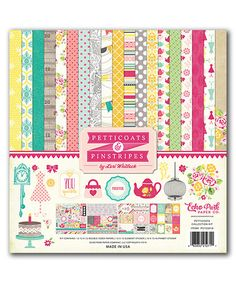 Look what I found on #zulily! Petticoats & Pinstripes Girl Scrapbooking Kit by Echo Park Paper Co. #zulilyfinds