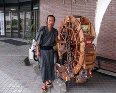 Books on Wheels: A Global Jaunt. Mr Doi and his book bike, Japan.