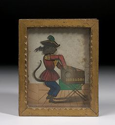 French Shadow Box Sand Toy, - Cowan's Auctions