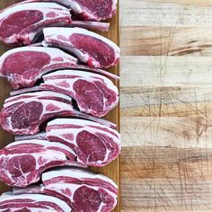 Our grass fed & finished lamb is insane right now! Check out these gorgeous cuts courtesy of @standingsbutchery in SoCal.  Come see us at one of our weekend farmers markets (Saturday Ferry Plaza in San Francisco & Sunday Marin Civic Center) and pick some up.  #grassfedlamb #lamb #meatlover #butchershop #farmersmarket #fieldtofork #pasturetoplate